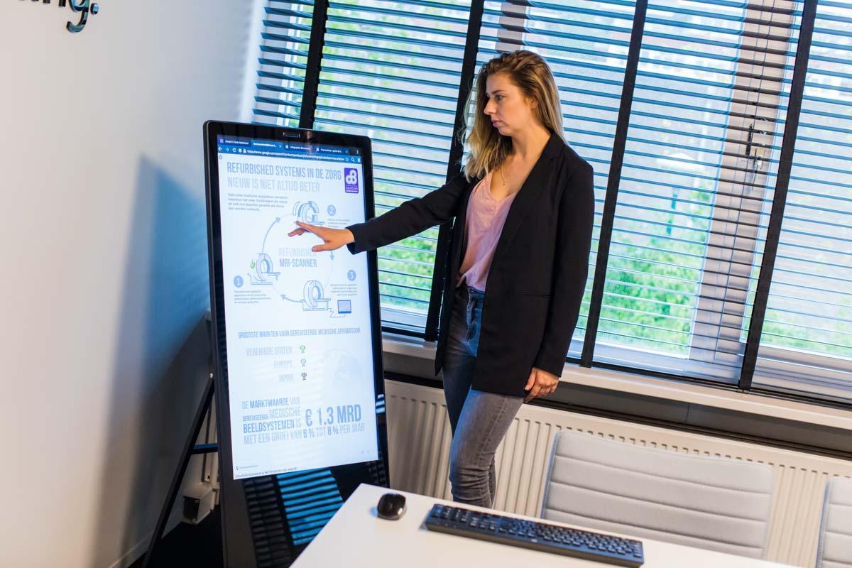 touchscreen presentatiescherm