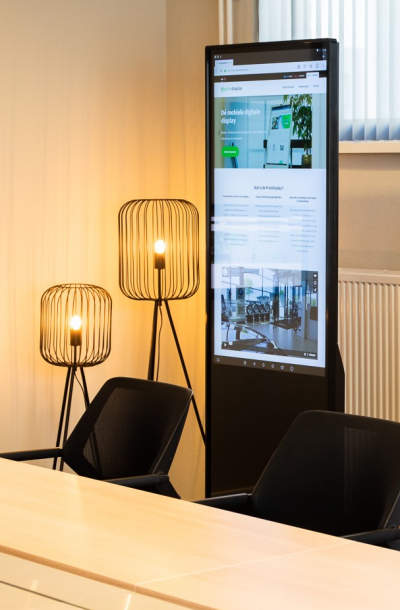 De PixioDisplay Luxe is groots in design en formaat.